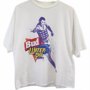 L34 Vintage Hanes Heavyweight Bud Water Ski Shirt